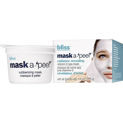 bliss mask-a'peel' radiance revealing rubberizing mask  1pk, 14 grams