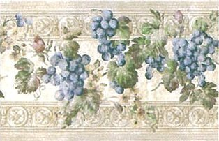 Light Taupe Grapevine Molding Wallpaper (Grapevine Three Light)