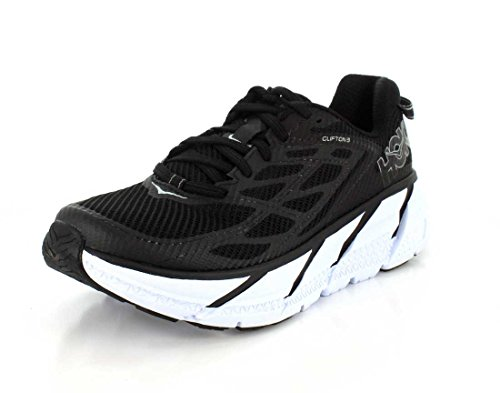 Hoka One One Women's Clifton 3 Road Running Shoe,Black/Anthracite,US 11 M by Hoka One