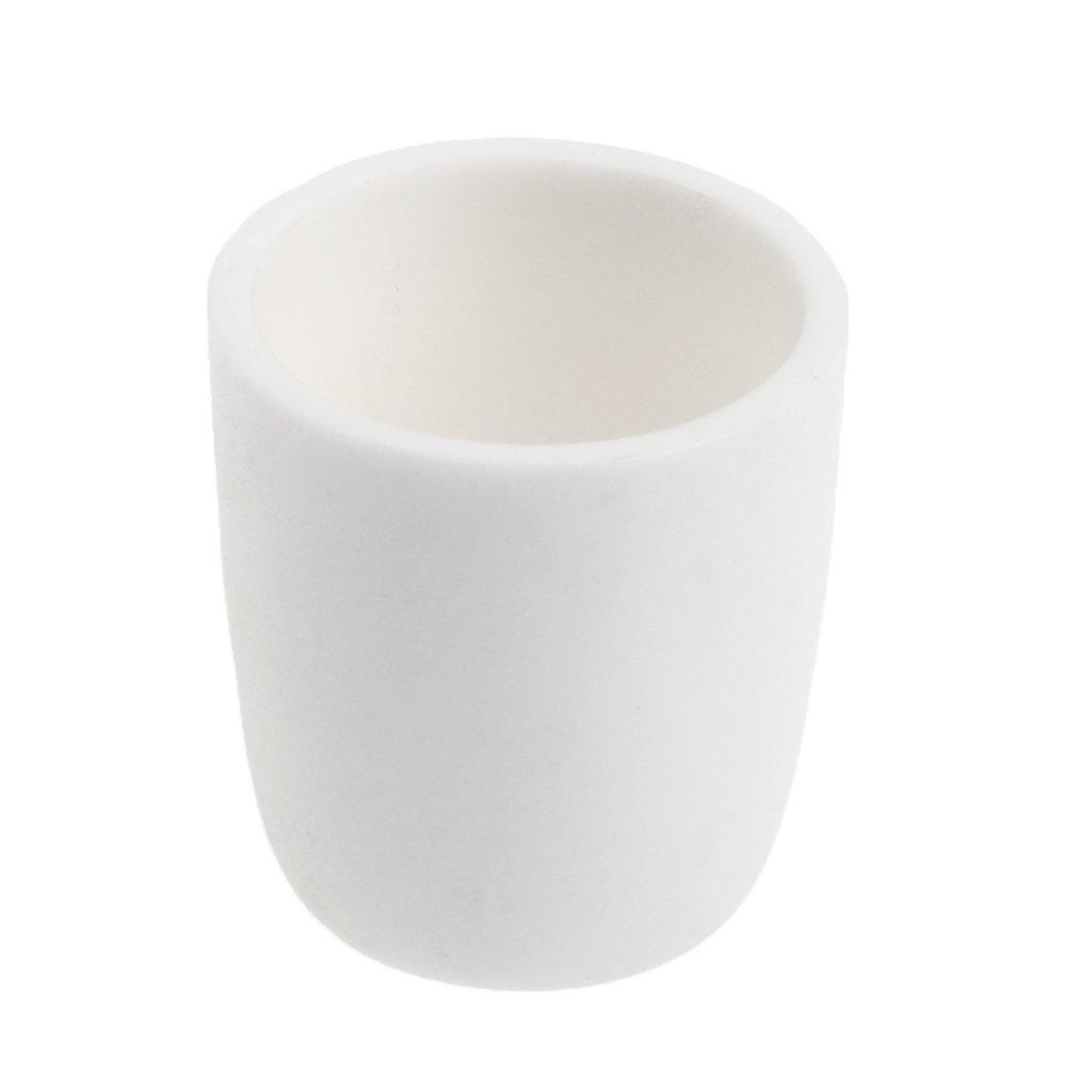 Dolity Crucibles Melting Casting Refining Aluminum Corundum Crucible 20ml -150ml - White, 50mL