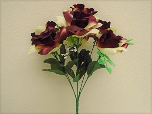 Amazon seller profile phoenix discount silk flower phoenix silk 2 bushes open rose 7 artificial silk flowers 15 mightylinksfo