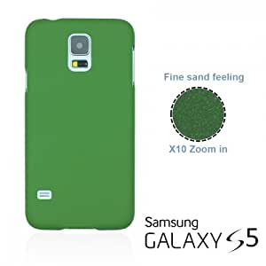 OnlineBestDigital - Frosted Surface Hard Back Plastic Case for Samsung Galaxy S5 - Green with 3 Screen Protectors