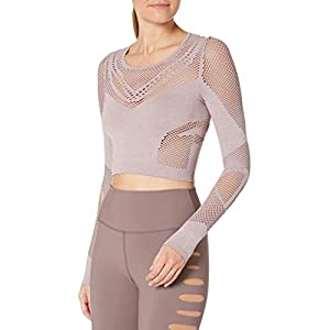 Alo Yoga Women's Siren Long Sleeve, Smokey Quartz, Large