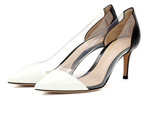 Enfiler Aiguille Stiletto Soirée Escarpins À Black Sandales Taille Chaussure Talon Transparent Femme Edefs qwFITzz