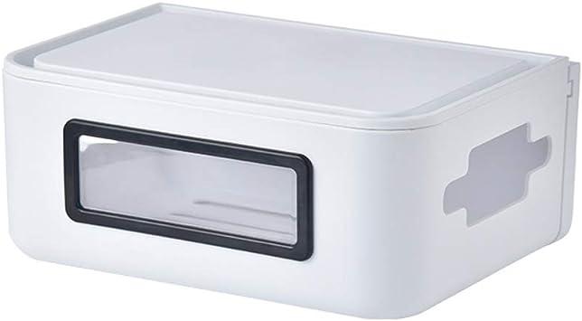 Caja de almacenamiento de enrutador WIFI Estante de la pared Estante flotante Cable de alimentación toma de corriente estante fijo Estante de exhibición multifuncional (Color : White , Size : M) : Amazon.es: Electrónica