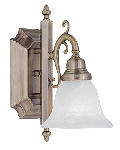 Livex Lighting 1281-01 French Regency 1-Light Bath Light, Antique Brass