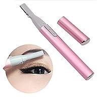 ShineMore - Kit de modelado facial para cejas y estilo de cejas Maquinilla de afeitar eléctrica con recortadora (rosa)