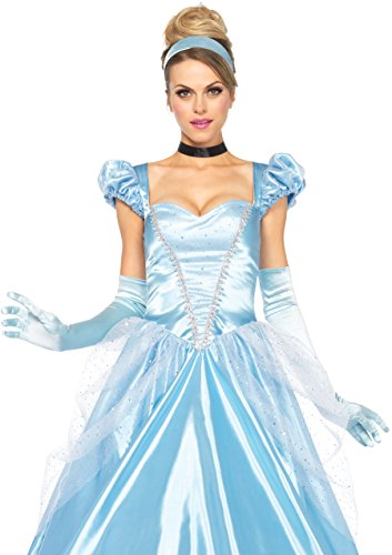 Leg Avenue Disney 3Pc. Classic Cinderella Costume, Blue, -