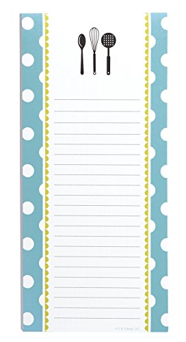 C.R. Gibson Magnetic, 75 Sheet, Shopping List Notepad, Perfect For Notes & Doodles, Measures 4.5