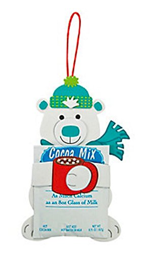 Foam Polar Bear Hugging Cocoa Craft Kit (Makes 12)