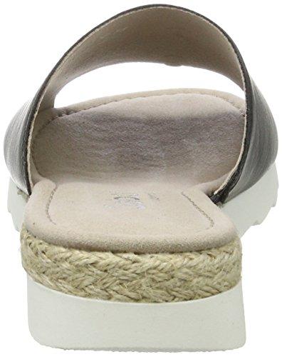 Jute Cu Schwarz Gabor Mujer Shoes a Comfort con para Sandalias Negro v7PaCqw