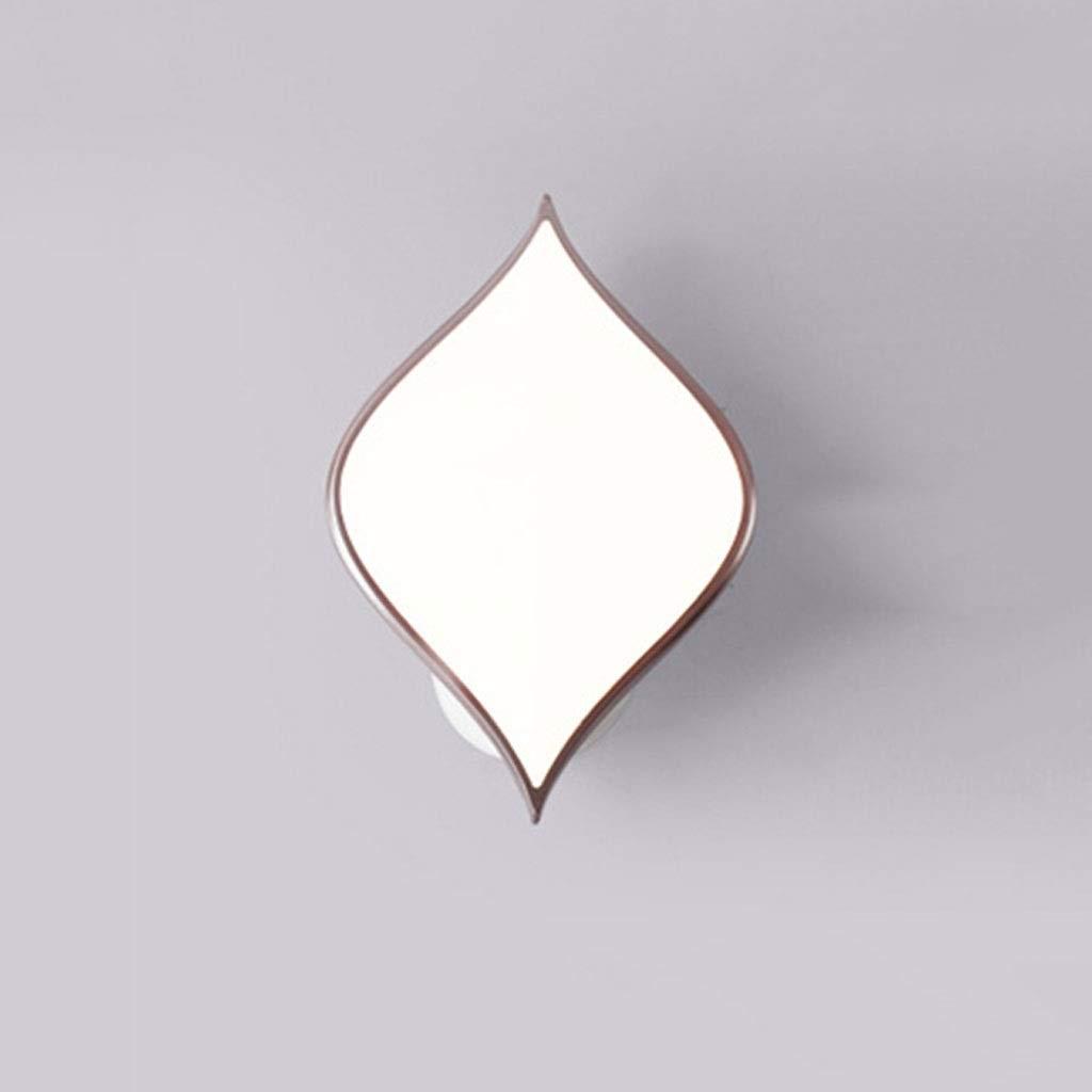 A 1 Gelb 1 Weiß JIAQI Mode High-End LED Wandleuchte Moderne Minimalistische Wohnzimmer Esszimmer Schlafzimmer Gang Hintergrund Wanddekoration Lampe Studie Schmiedeeisen Acryl Wandleuchte A ++