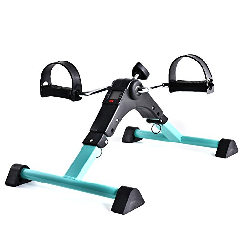 B BAIJIAWEI Portable Pedal Exerciser - Under Desk Exercise Machine - Arm & Leg Exercise Peddler - Folding Low impact Exercise Bike for Seniors and Elderly by B BAIJIAWEI