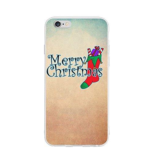 Zanm Merry Christmas Socks IPhone 6 Case/iPhone 6s Case Non-Gap, Slip-Proof Rugged Bumper Sky