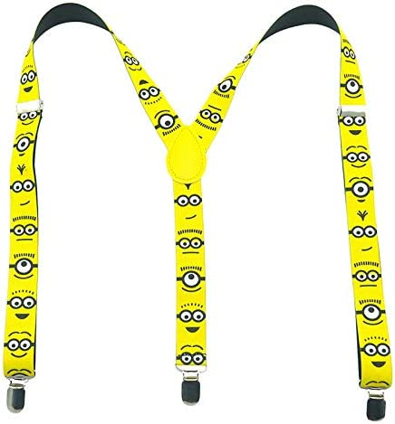 "Unisex Clip-on Braces Elastic /""Yellow/"" Slim Y Back Suspender"