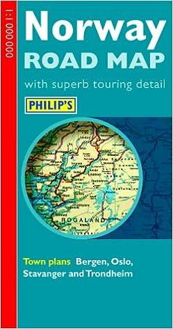 Philips Road Map Norway Philips European Road Maps Amazonco - Norway map amazon