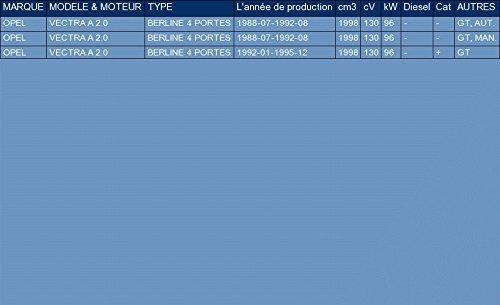 pour VECTRA A 2.0 SED/ÁN 130hp 1988-1995 ETS-EXHAUST 1217 Silencioso Trasero