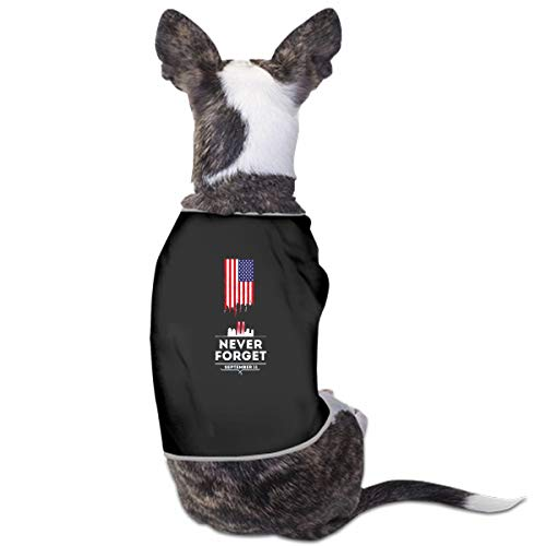 (WIEDLKL Fashion Unique Custom Pet Costume Patriot Day Poster American Flags Printing Cute Leisure Teddy Puppy Pet Dog Clothes Dog Pet Pajama Dog Shirt for Large Medium Small Dogs Cats)