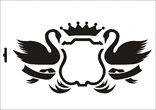 UMR-Design W-318 Swan Textil- / wallstencil Size A4