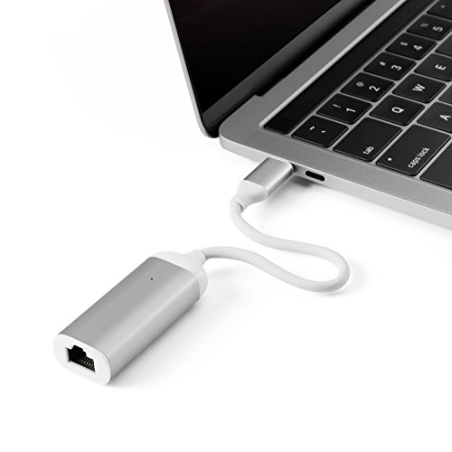 MINIX NEO C-E, Advanced High-Speed USB-C to Gigabit Ethernet Adapter - Silver [Universal Compatibility – Windows, Mac and Chrome OS]. Sold Directly by MINIX Technology Limited. by MINIX