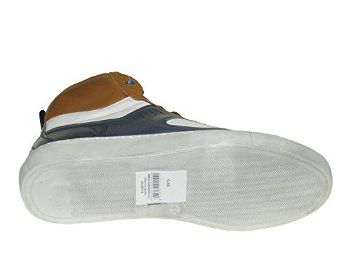 s.Oliver - Zapatillas de Piel para hombre Multicolor multicolor creme weiss blau braun kombiniert