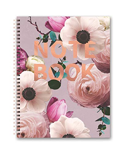 Studio Oh! Extra Large Hardcover Spiral Notebook Available in 6 Designs, Floral Expressions Blush Notebook Available in 6 - Large Notebook Spiral