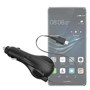 Yayago–Cargador de Coche con Cable enrollable 1amperios para Huawei P9Lite/P9Lite Dual