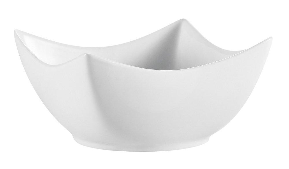 CAC China SHA-Q4 Sushia 3-Inch Super White Porcelain Square Bowl, Box of 48