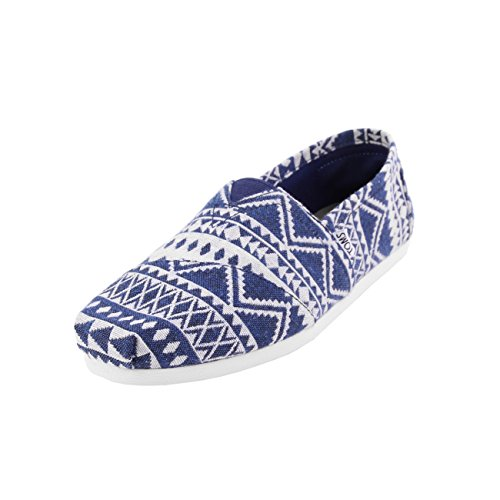 TOMS Classics Navy/White Cultural Woven 10008368 Mens (11.5)