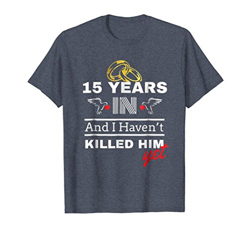 Mens 15th Year Anniversary Gift Idea for Her - 15 Years In Shirt 2XL Heather Blue