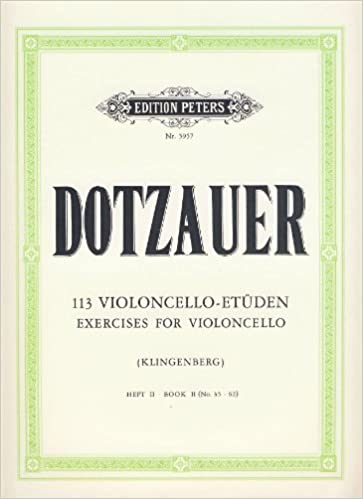 EDITION PETERS DOTZAUER FRIEDRICH - 113 EXERCICES VOL.2 (N°35-62) - VIOLONCELLE Educational books Cello