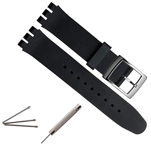 19mm-replacement-waterproof-silicone-rubber-watch-strap-watch-band-black