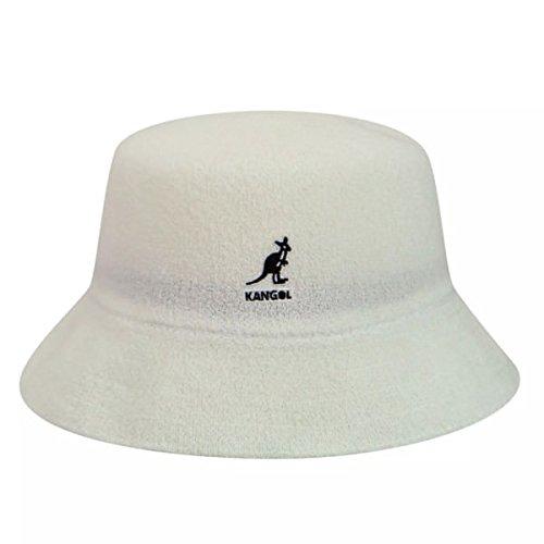Kangol Men's Bermuda Bucket, White, Large