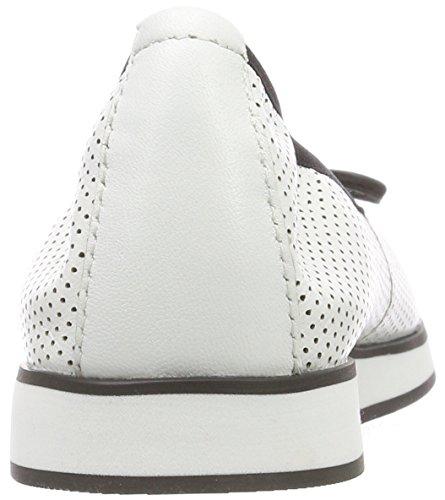 CAPRICE Nappa 102 22125 Weiß Damen White Geschlossene Ballerinas ffn7rqT