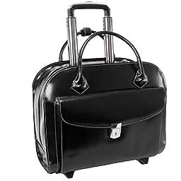 McKleinUSA GRANVILLE 96145A Black Wheeled Ladies\' Laptop Case