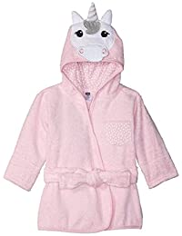 Hudson Baby Animal Face Hooded Bathrobe, Unicorn, 0-9 Months