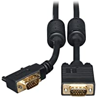 TRIPP LITE Right Angle Monitor Cable with RGB Coax / HD-15 Male - HD-15 Male - 6ft - Black / P502-006-RA /