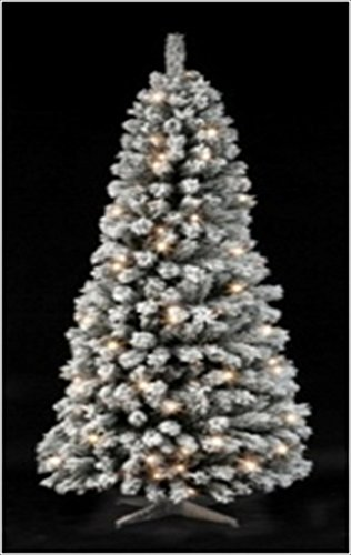 7ft Pop Up Christmas Tree Pre Lit 120 Warm White Led Lights Green