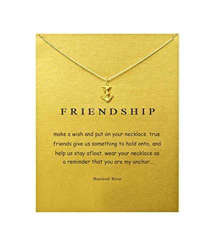 Hundred River Gift Necklace Anchor Pendant Friendship Necklace(Anchor) -