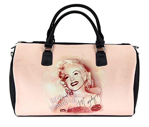 Marilyn Monroe Large Duffel Bag, Simply Beautiful, Plus Keychain, MM995 (Marilyn Monroe Luggage)