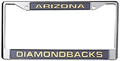 MLB Laser-Cut Chrome License Plate Frame