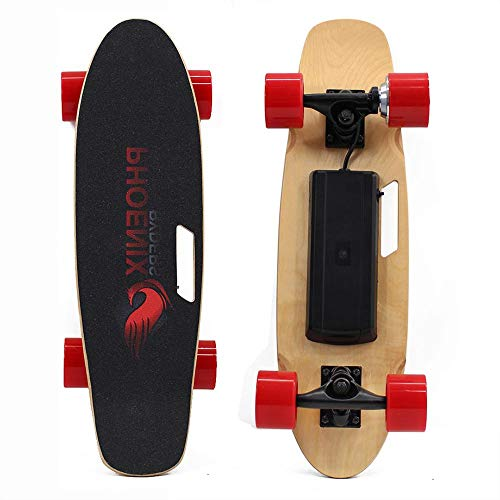 - Alouette SKATEBOLT Electric Skateboard with Remote Controller - S1 Small Fish Plate, 10-20km/h 250W Hub-Motor 2.75