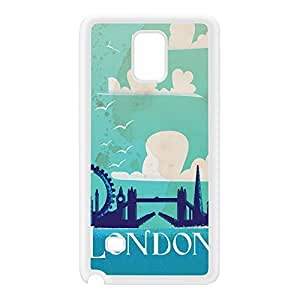 London White Silicon Rubber Case for Galaxy Note 4 by Nick Greenaway + FREE Crystal Clear Screen Protector