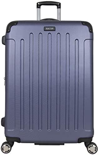 """Kenneth Cole Reaction Renegade 28"""" Lightweight Hardside Expandable 8-Wheel Spinner Checked-Size Luggage, Smokey Purple, inch"""