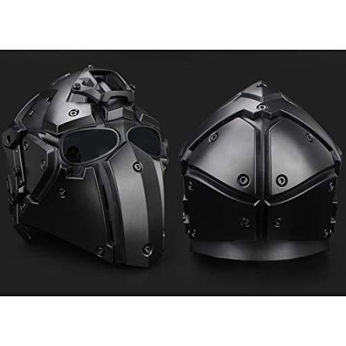 GODNECE Masque Combat Masque Tir Casque Tactique Militaire Casque Intégral Airsoft pour Airsoft Paintball Wargame CS 2
