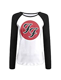Women Foo Fighters Band Logo T-shirt Black