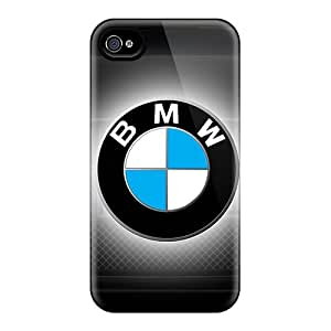 Great Cell-phone Hard Cover For Apple Iphone 4/4s (AdO10353WFhb) Unique Design Vivid Dark Bmw Logo Image