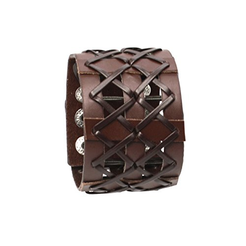 Ewok Costume Pattern (Unisex Faux Leather Steampunk Wristband Cuff (Brown))
