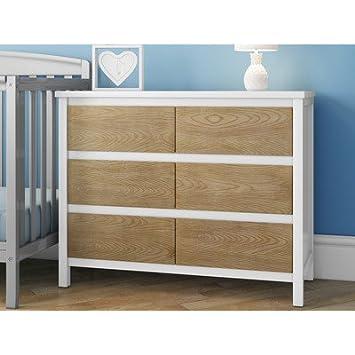 Holz Schlafzimmer Kommode mit 6 großen Schubladen für reichlich ...