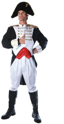 [Underwraps Costumes Men's King Napoleon Costume, White/Red/Black, One Size] (Couple Costumes Black And White)